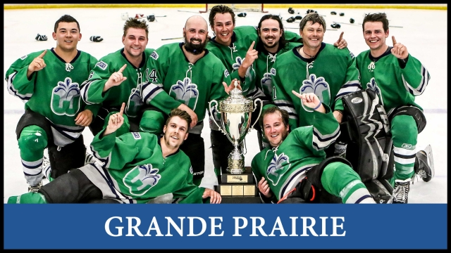 Hockey in Grande Prairie, League team and player registration, stats, schedules. For men and women to play hockey in a fun and safe environment.